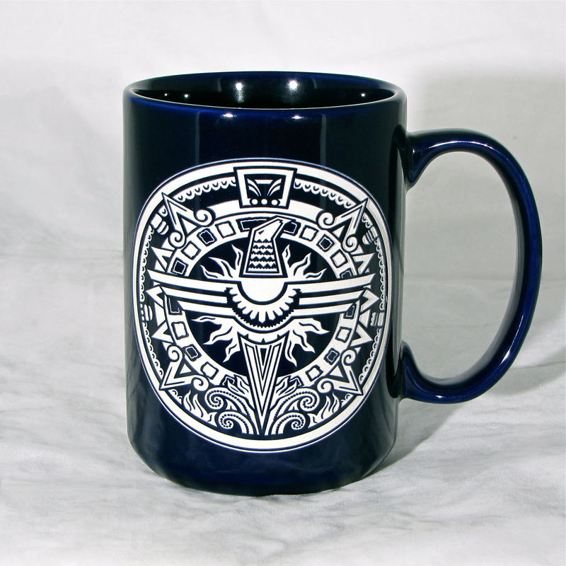 Blue Phoenix Coffee Cup, Firebird Phoenix rising, Personalization available - product image