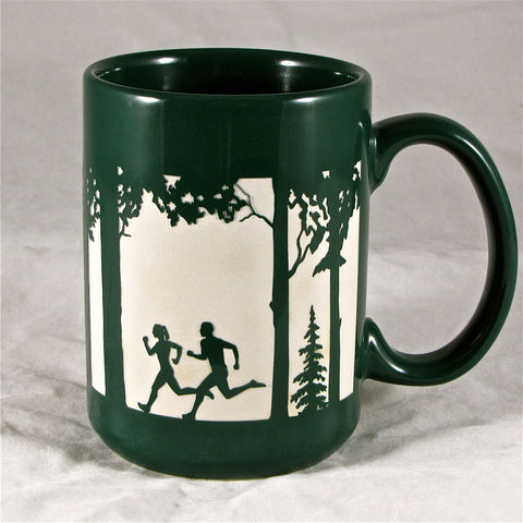 Coffee,Mug,for,Runners,,15,ozs,,Running,Couple,Cup,,Trail,Run,Coffee Mug for Runners, 15 ozs, Running Couple Coffee Cup, Trail Running