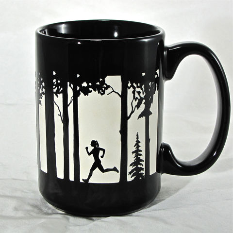 Female,Runner,Coffee,Cup,-,Engraved,Gift,for,Trail,Runner,,16,ozs,,Blue,Running,Mug,Female Runner Coffee Cup - Engraved Gift for Trail Runner, 16 ozs, Blue Running Coffee Mug