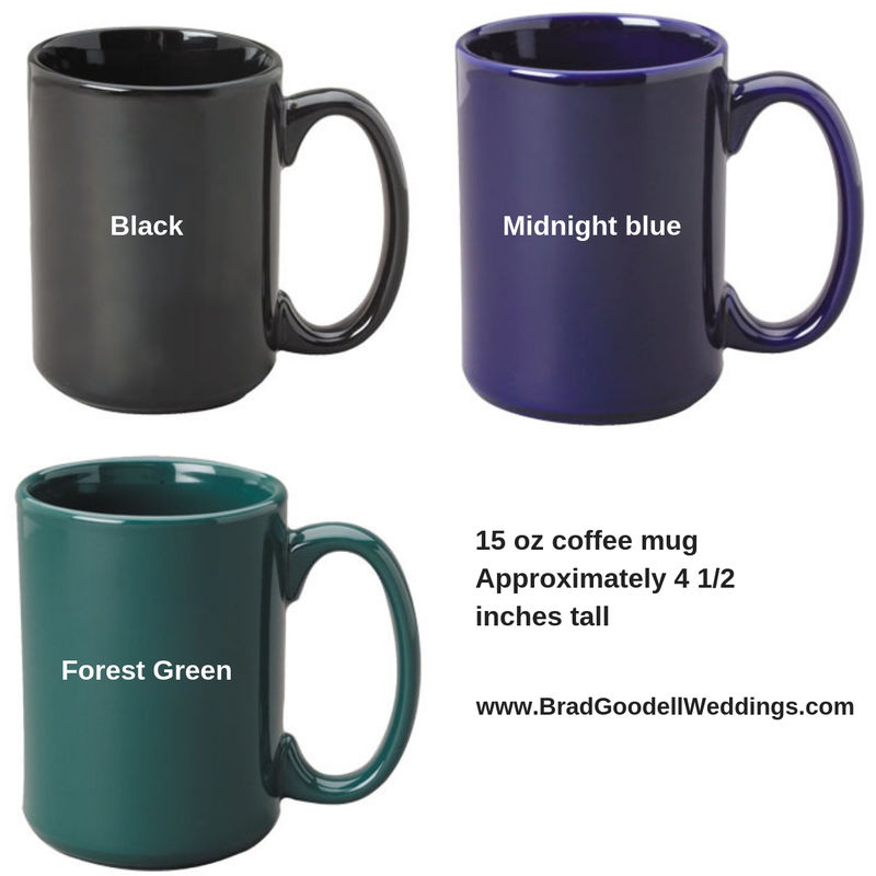 Male Runner Coffee Cup - Engraved Gift for Trail Runner, 15 ozs, Midnight Blue Running Coffee Mug - product image