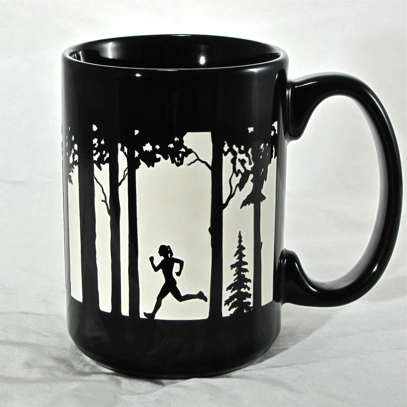 Gift for Couples - 2 Personalized Trail Runner Coffee Mugs - product images  of