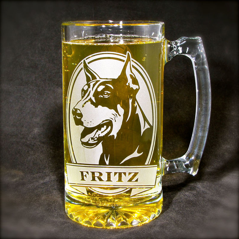 1 Personalized Beer Mug, American Pit Bull Terrier Beer Stein, Dog Fancier - product images  of