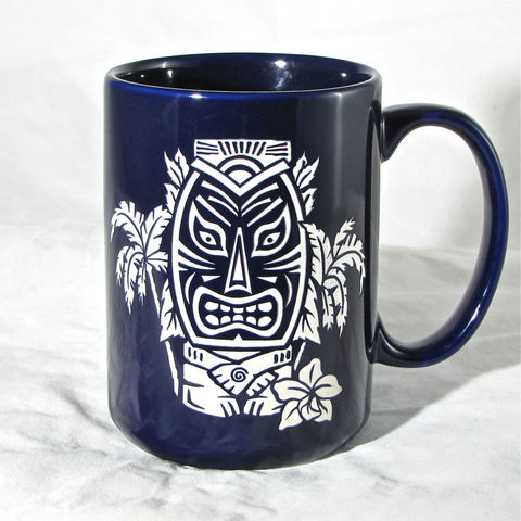 Blue,Tiki,Coffee,Mug,-,Tea,Cup,with,Hawaiian,Tiki,,Engraved,Gift,/,Birthday,Present,Housewares,Engraved_Gift,Personalized,Birthday_Gift,brad_goodell,Birthday_Present,Tea_Mug,Gift_for_Man,Coffee_Tea_Cup,hawaiian_tiki,hawaii,gift_for_woman,Tiki_Coffee_Mug,Black_coffee_cup,Ceramic