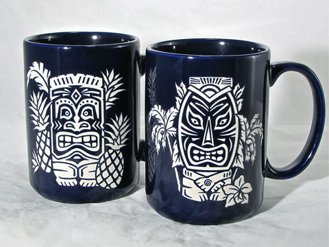 Two,(2),Tiki,Coffee,Mugs,-,His,and,Her,Gifts,for,Couple,,Tea,Cup,with,Hawaiian,Tiki,,Engraved,Gift,Housewares,Engraved_Gift,Personalized,Birthday_Gift,Coffee_Cup,Gift_for_Man,Coffee_Tea_Cup,hawaiian_tiki,hawaii,gift_for_woman,Tiki_Coffee_Mugs,His_and_Hers,Gifts_for_Couple,Red_Black_Blue,Ceramic