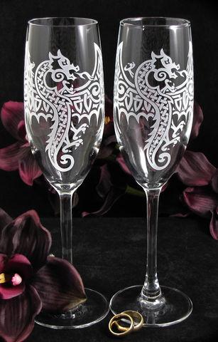 Celtic,Dragon,Champagne,Glasses,,Viking,or,Nordic,Wedding,Flutes,Celtic dragon, welsh dragon, viking nordic champagne flutes, toast glasses, wedding flutes, toasting flutes