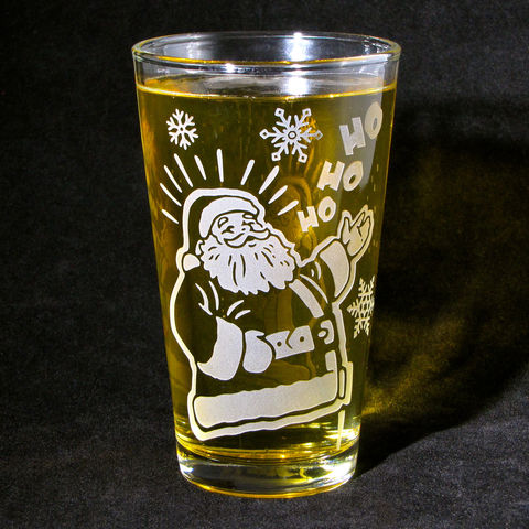 1,Santa,Glass,with,Etched,Tumbler,,Christmas,Gift,,can,be,personalized,Santa Claus, St Nick, Christmas Gift, Boxing Day, beer glass, personalized, pint glass, etched glass, engraved gift, gift for man, gift for husband, boyfriend, father, dad