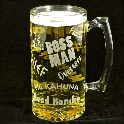 Boss Lady Beer Stein, Gift for Woman, Boss, Wife or Mom - product image