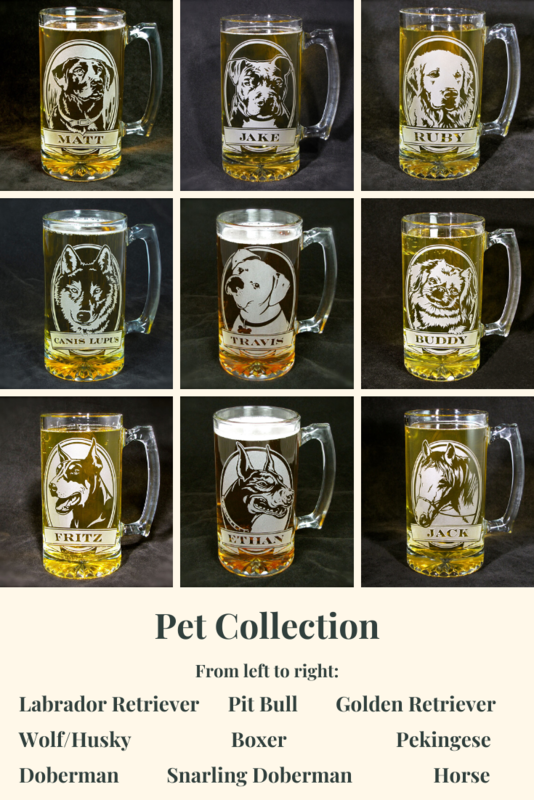 1 Personalized Beer Mug, American Pit Bull Terrier Beer Stein, Dog Fancier - product image