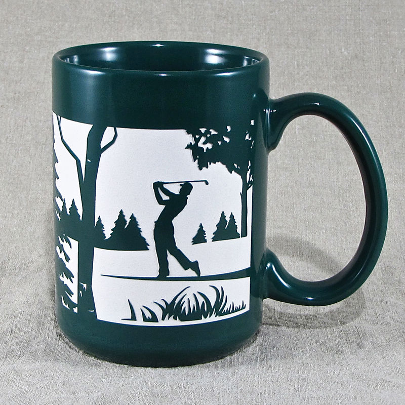 Golfer Mug with Man, Coffee Cup, Father's Day Gift for Dad  - product image