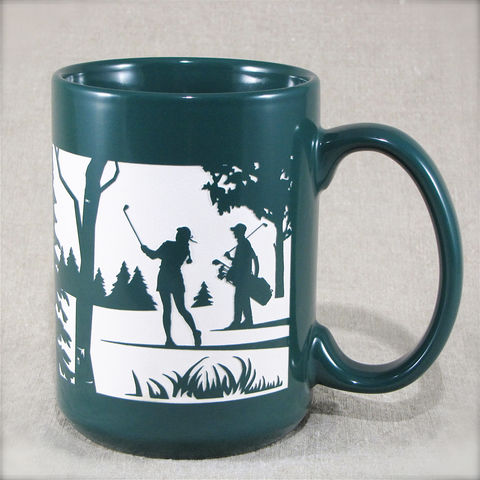 Golf,Mug,with,Couple,,Coffee,Cup,for,Gofters,Couple Golf Golfer Mug with Man, Coffee Cup, Father's Day Gift for Dad  Golf, Golf Club