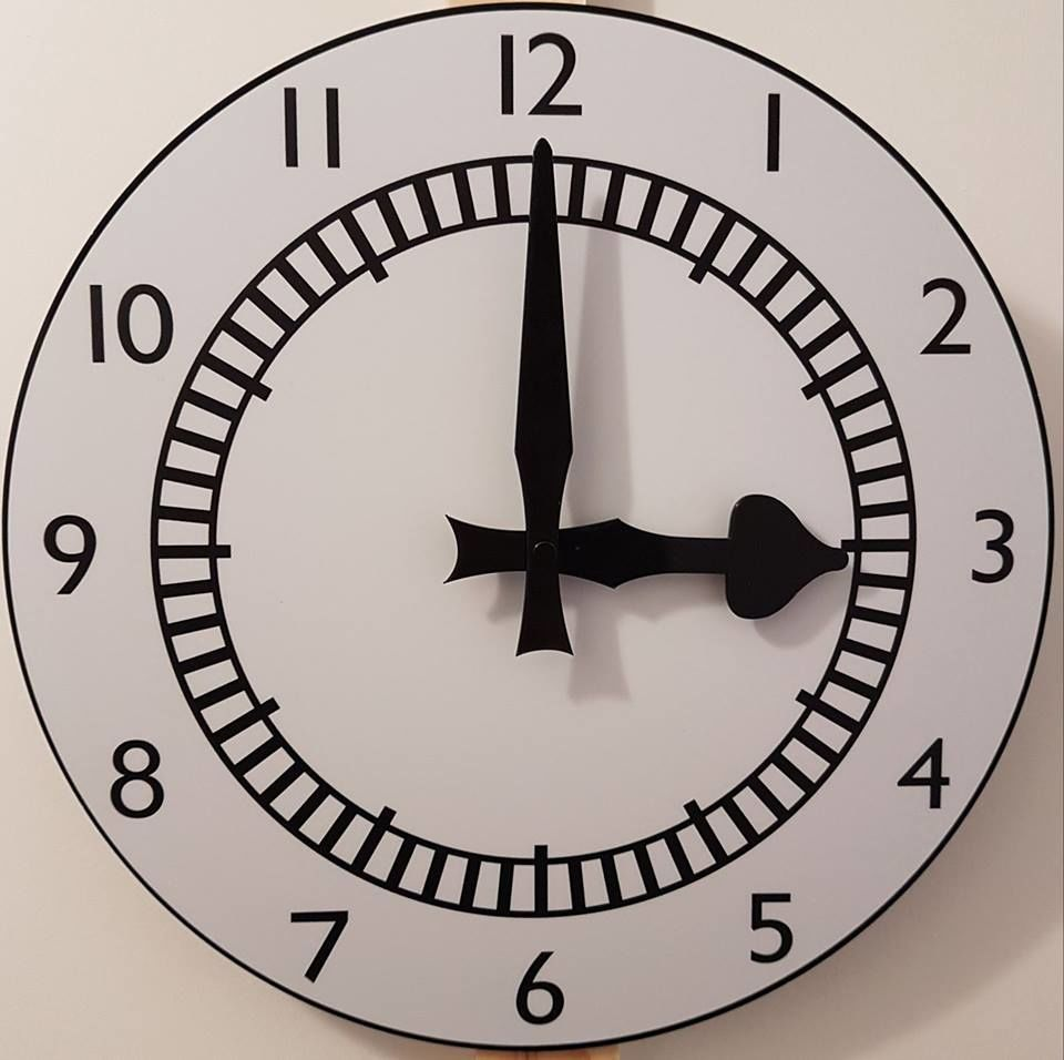 "The 12"" Clock Wallclock (Acrylic) - product images  of"