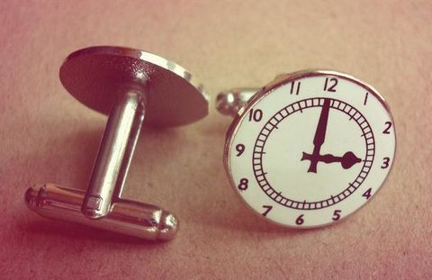 Clock,Cufflinks,(big,ones),Arsenal cufflinks, Arsenal clock, Clock A