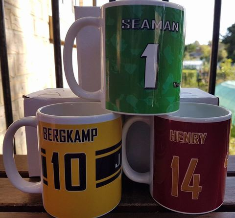 Legends,mugs,Seaman,Henry,Bergkamp,Pires