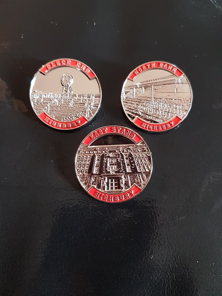 Highbury pins - Northbank, Clockend + East Stand - product image