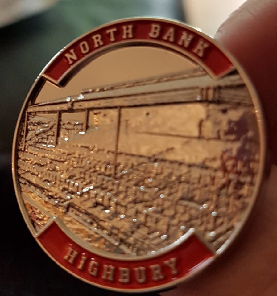 Highbury pins - Northbank, Clockend + East Stand - product images  of