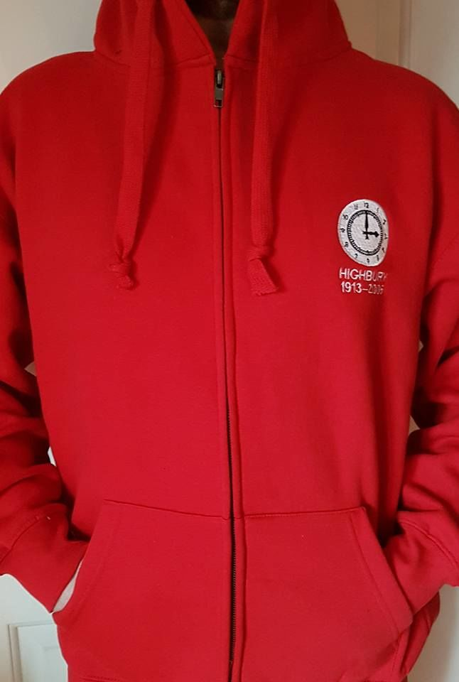 Highbury zip up hoodie (Red) - product image