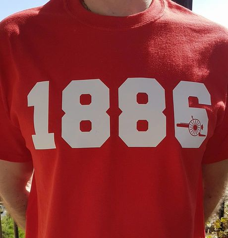 1886,-,T-shirt,(Red),Arsenal t-shirt