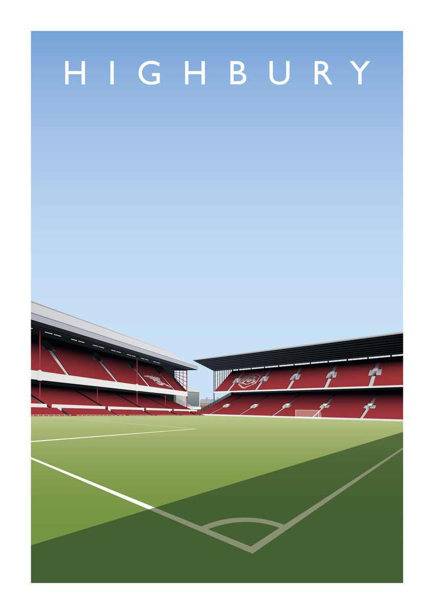 Poster - Highbury Northbank/West Stand - product image
