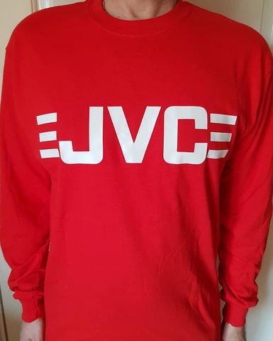 JVC,Long,Sleeve,T-Shirts,(Red)