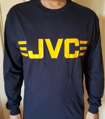JVC,Long,Sleeve,T-Shirts,(Navy)