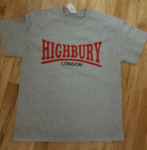 Highbury,T-shirt,(Grey)