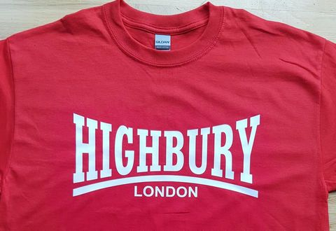 Highbury,T-shirt,(Red)
