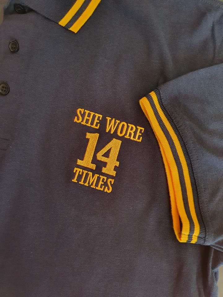 14 Times Polo shirts (Navy + Yellow) - product image