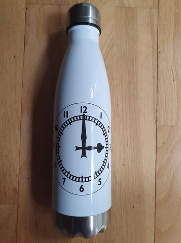 Clock,Steel,Slim,Neck,Bottle,500ml