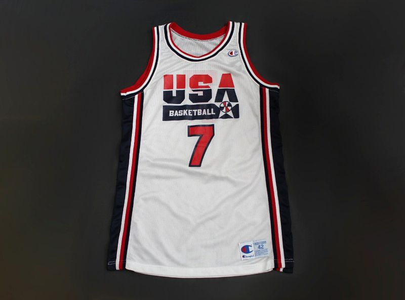 timeless design ccdd6 48cfd Vintage #7 USA Dream Team pro cut basketball jersey made by Champion size 42
