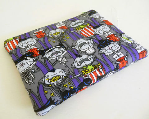 Padded,Vampire,Nook,Simple,Touch,Case,padded nook touch case, zippered nook simple touch case, vampires nook simple touch cover, handmade padded case for nook touch, nook glowlight case