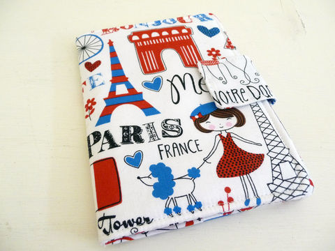 Cute,Paris,Kindle,4,Cover,,Book,Style,or,5,,Voyage,,Kobo,Touch,Case,kindle voyage cover, kobo touch cover, paris kindle 4 cover, handmade kindle 5 cover, book style kindle case, basic kindle cover, kindle 4 cover, Paris, cotton print