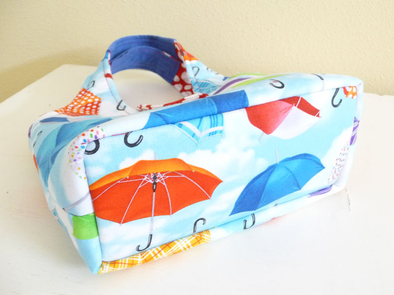 Cute Umbrella Print Handbag, Small Purse - product images  of