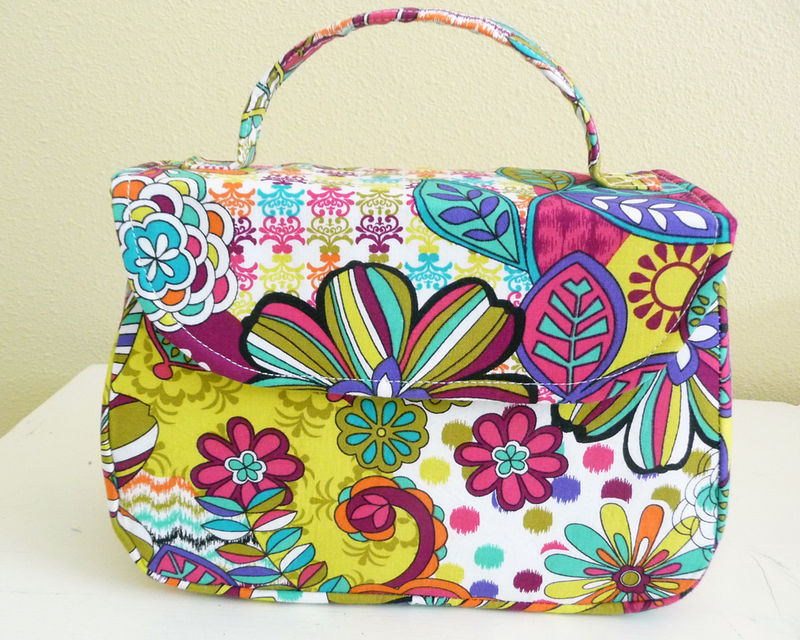 Bright Spring Floral Mabel Handbag, retro vintage style - product images  of