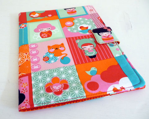 Hello,Tokyo,iPad,2,Cover,,soft,book,style,cute ipad 2 cover, hellow tokyo ipad 2 cover, bright ipad 2 cover, kawaii ipad cover, book style ipad cover, ipad case, handmade