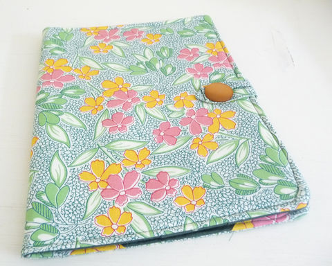 Retro,Style,Floral,Print,iPad,1,Cover,handmade ipad 1 cover, original ipad cover, womens ipad 1 cover, clearance ipad cover, floral print ipad cover, retro floral print ipad 1 cover