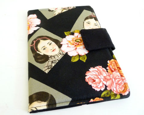 Floral,and,Portraits,Kindle,Fire,or,Keyboard,Cover,handmade kindle 3 cover, handmade kindle fire, wmens kindle 3 cover, womens kindle fire cover, original kindle fire cover, kindle fire 1 cover