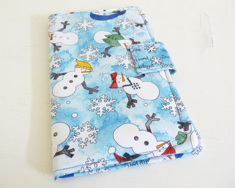 Winter,Snowmen,Book,Style,Nexus,7,Cover,cover for 2013 Nexus 7, handmade nexus 7 tablet cover, book style cover for nexus 7, winter nexus 7 cover, snowmen nexus 7 cover, 2nd generation nexus 7 cover