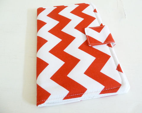 Red,and,White,Chevron,Book,Style,Nexus,7,Cover,cover for 2013 Nexus 7, handmade nexus 7 tablet cover, book style cover for nexus 7, red and white nexus 7 cover, chevron print nexus 7 cover 2nd generation nexus 7 cover