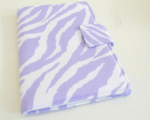Lavender,and,White,Zebra,Print,Nook,HD,Cover,nook hd cover, nook hd case, handmade nook hd cover, zebra print nook hd cover, lavender zebra print nook hd cover, womens nook hd cover
