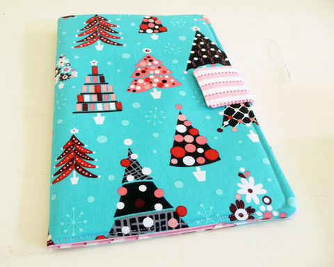 Retro,Christmas,Trees,Nook,HD,Plus,Cover,nook hd plus cover, handmade nook hd plus cover, christmas trees nook hd plus cover, christmas nook hd plus cover, retro nook hd plus cover