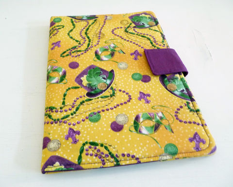 Mardi,Gras,Nook,HD,Plus,Cover,nook hd plus cover, handmade nook hd plus cover, purple and gold, mardi gras nook hd plus cover