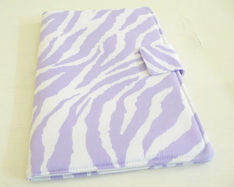 Lavender,and,White,Zebra,Print,Nook,HD,Plus,Cover,nook hd plus cover, handmade nook hd plus cover, zebra print nook hd plus cover, nook hd plus case, soft book style