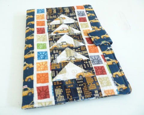 New,York,City,Patchwork,Nook,HD,Plus,Cover,nook hd plus cover, handmade nook hd plus cover, soft book style case for nook hd plus, new york city themed nook hd plus cover