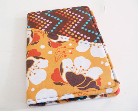 Orange,Floral,Kindle,4,or,5,Cover,,Kobo,Touch,Case,kindle voyage cover, kobo touch cover, kindle 5 cover, kobo touch case, handmade kindle cover, floral kindle cover, flower pint kobo touch case