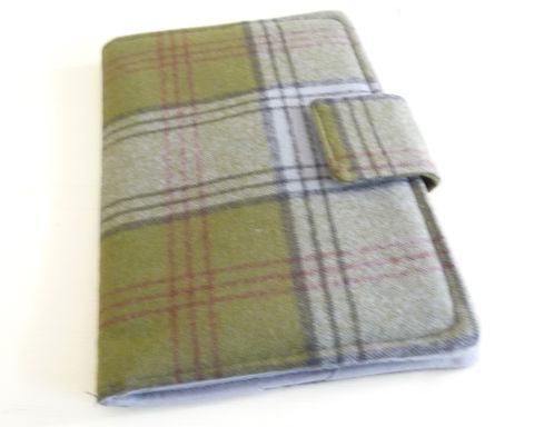 Olive,Green,and,Grey,Plaid,Wool,Kindle,4,or,5,Cover,kindle voyage cover, kobo touch cover, kindle 5 cover, kobo touch case, handmade kindle cover, plaid wool kindle 4 cover, plaid kindle voyage cover
