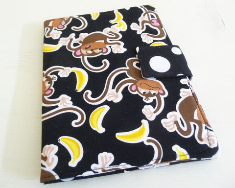 Monkey,Print,Kindle,Paperwhite,or,Touch,Cover,handmade kindle touch cover, kindle paperwhite cover, cotton kindle cover, handmade kindle paperwhite cover, cute kindle cover, moneky print kindle touch cover, monkey paperwhite cover