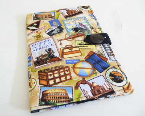 Travel,Theme,Kindle,2,Cover,handmade kindle 2 cover, kindle 2 keyboard cover, old style kindle 2 cover, book style kindle 2 cover, travel themed kindle 2 cover, 2nd generation kindle 2, cover or case for kindle 2