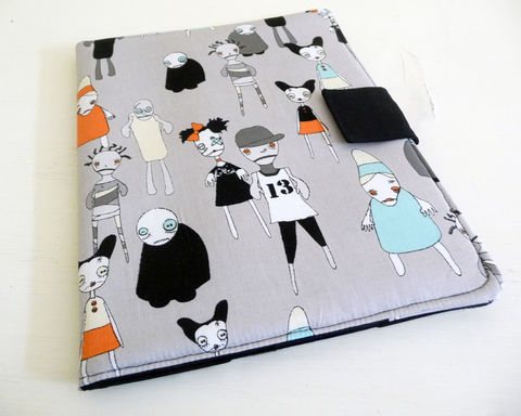Adorable,Zombies,iPad,2,Cover,,Soft,Book,Style,handmade ipad 2 cover, handmade ipad cover, soft book style cover, ipad 2 case, ipad 3 case, zombie ipad 2 cover, cute zombie ipad cover, halloween ipad cover