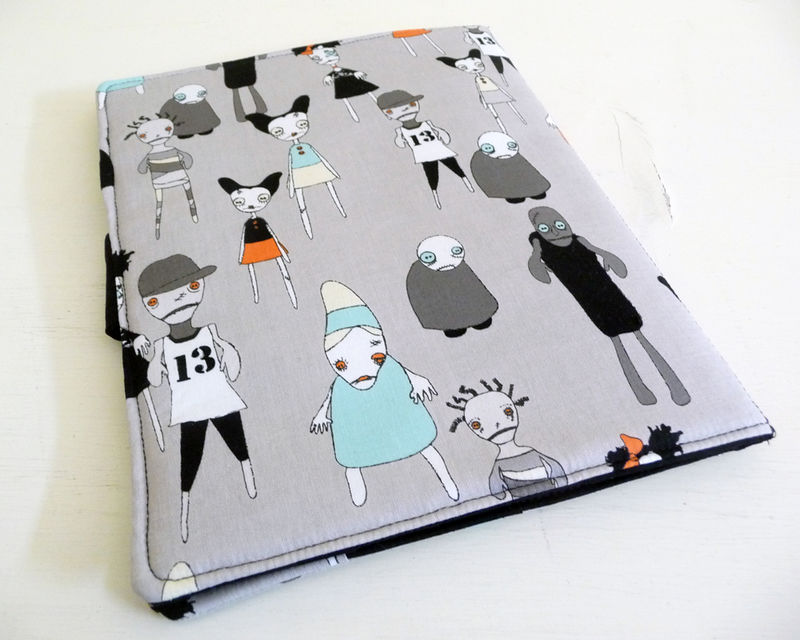 Adorable Zombies iPad 2 Cover, Soft Book Style - product images  of