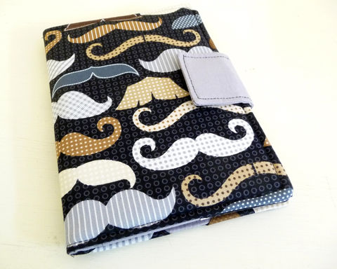Mustaches,Kindle,eReader,Cover,Soft,Book,Style,geekery kindle cover, hipster kindle cover, mustache kindle cover, kindle erader cover, mustache ereader cover, handmade ereader cover, soft ereader cover, rain girl designs